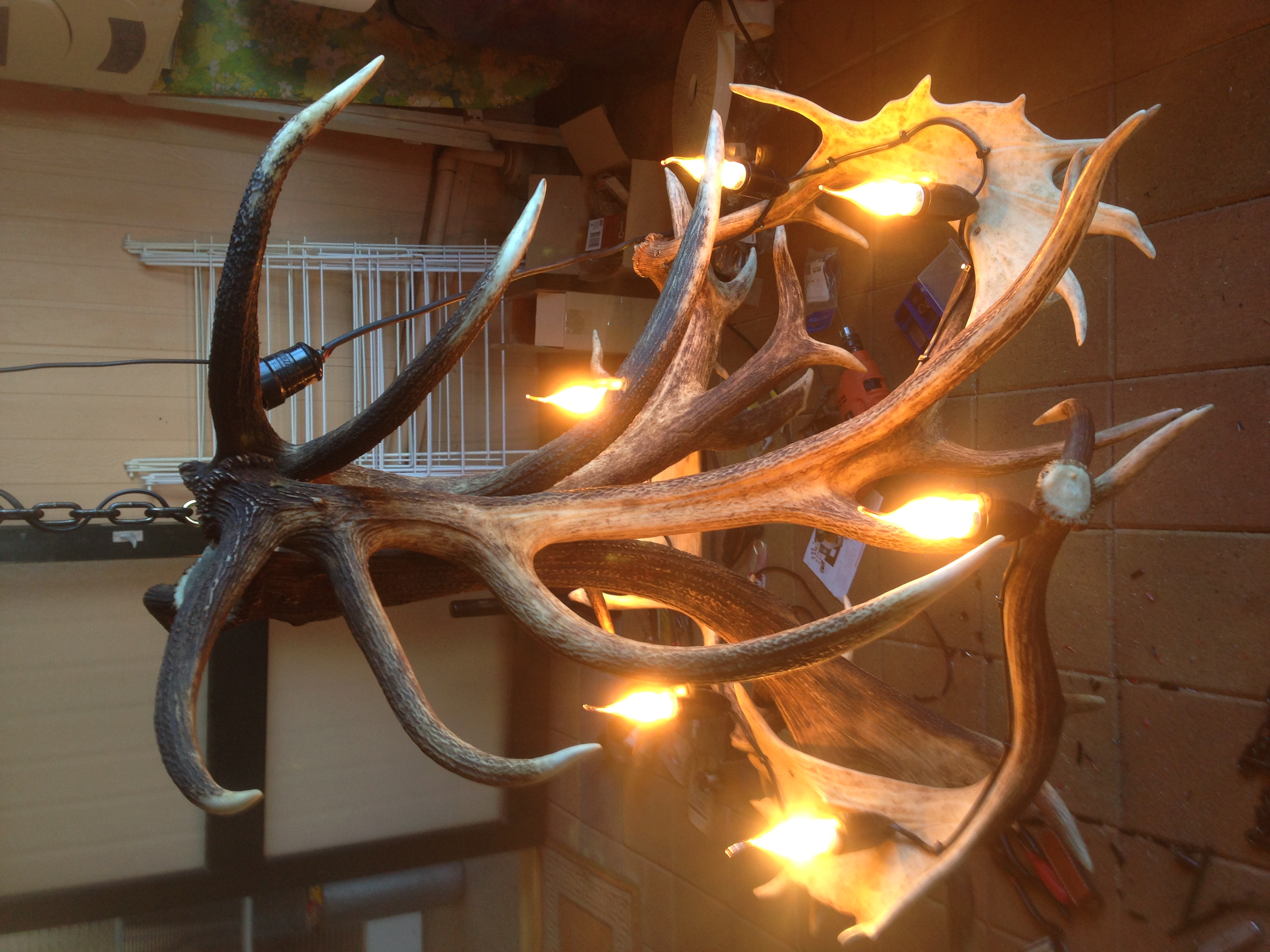 rustic chandelier tiered iron real fullsizeoutput antler and camp great products